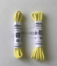 Citromsárga-vékony-gömbölyű-pamut-cipőfűző