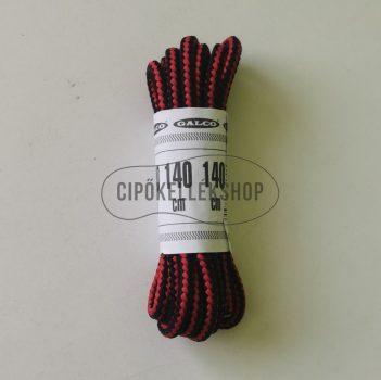 Bakancsfűző-fekete-piros-140-cm