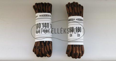 Barna-fekete-mintás-bakancsfűző
