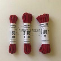 Piros-vékony-gömbölyű-pamut-cipőfűző